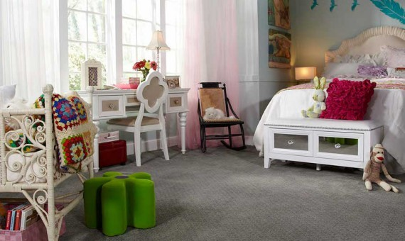 Girls bedroom Carpet | Custom Carpet Centers