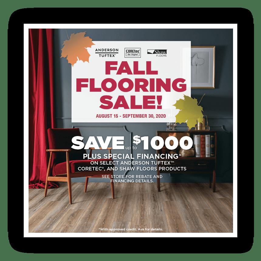 Shaw Fall Sale | Custom Carpet Centers