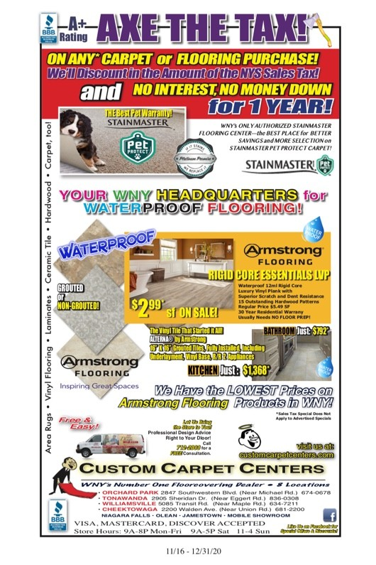 CCC What's On Sale | Custom Carpet Centers