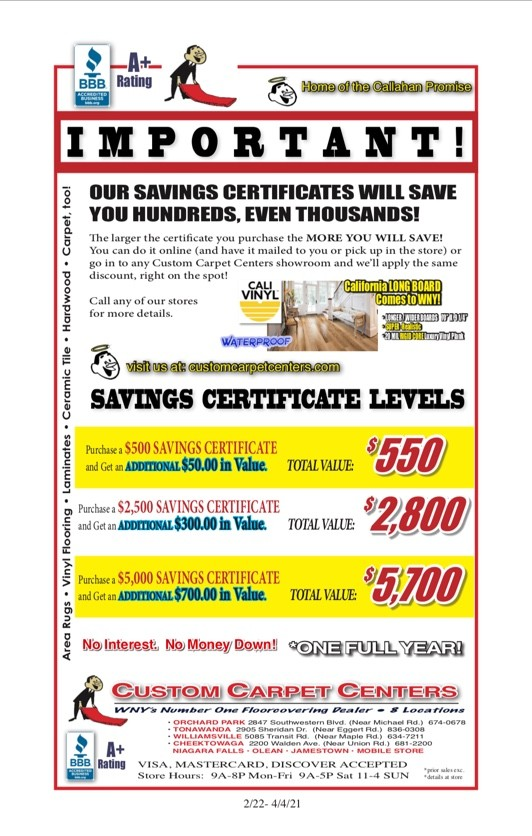 CCC Savings Certificate 2021